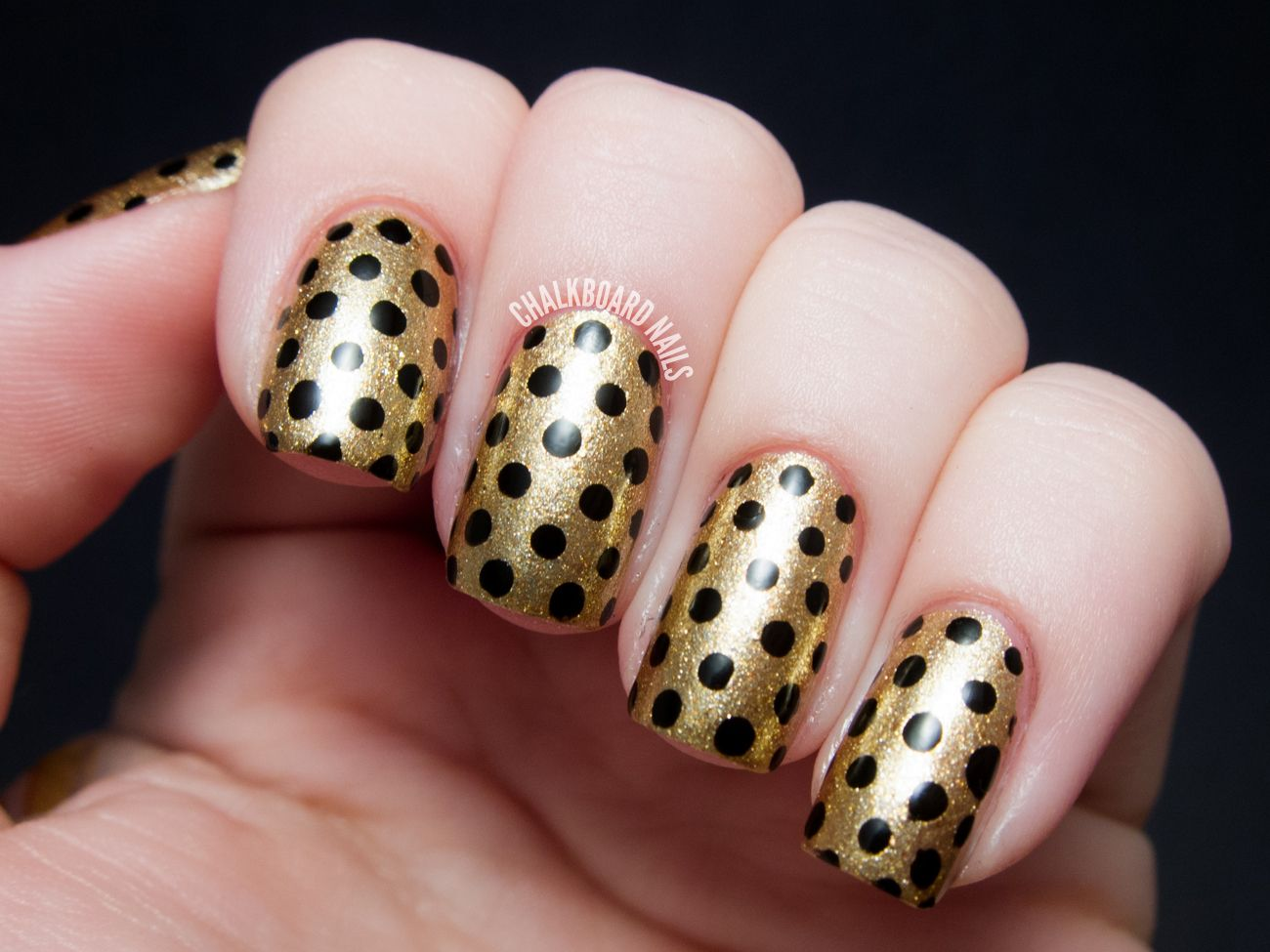 Party Perfect: Black and Gold Nail Art Ideas | Gold nail art ...