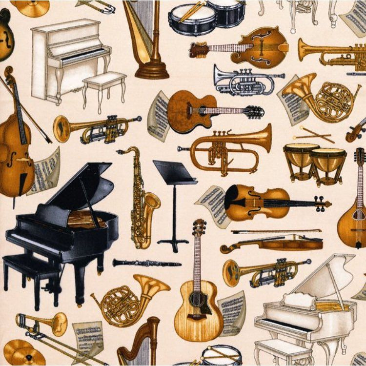 Tag your favorite music lover in this fabric from the Perfect Pitch collection by Dan Morris for @rjrfabrics!  #quiltwithlove #music #instrument #guitar #violin #piano #saxophone #drums #quilt #quilts #quilting #sew #sewing #craft #crafting #diy #fabric #crafts #patchwork #quilter