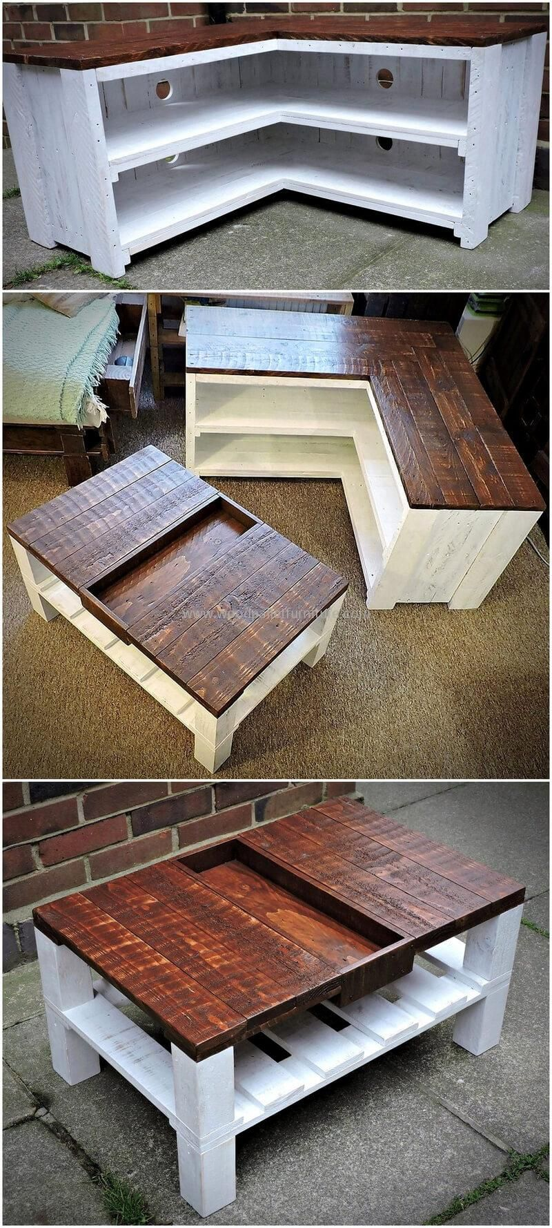 Incredible Diy Pallet Ideas And Projects Corner Tv Stands  # Mesure Table Tv