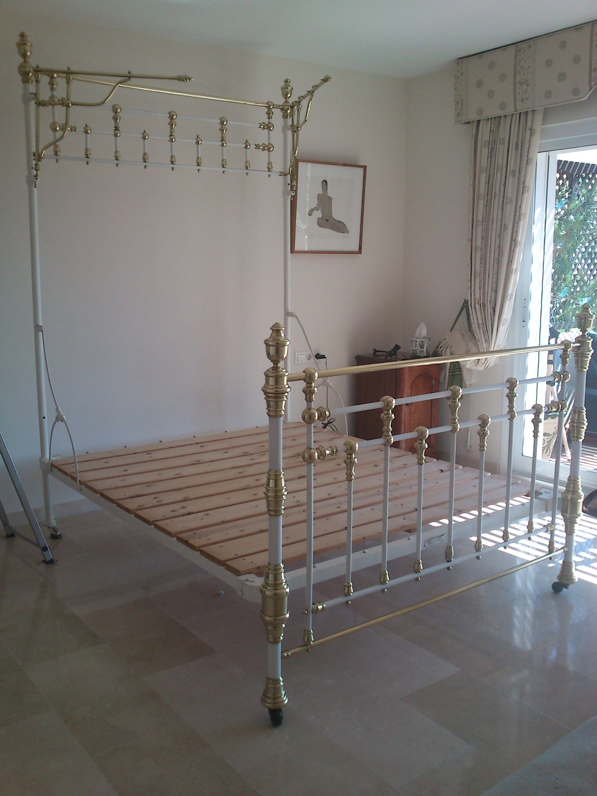 Restauración cama antigua | Camas antiguas | Pinterest | Camas ...
