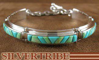Sleeping Beauty Turquoise Emerald Valley Turquoise Whiterock Link Bracelet HS18159