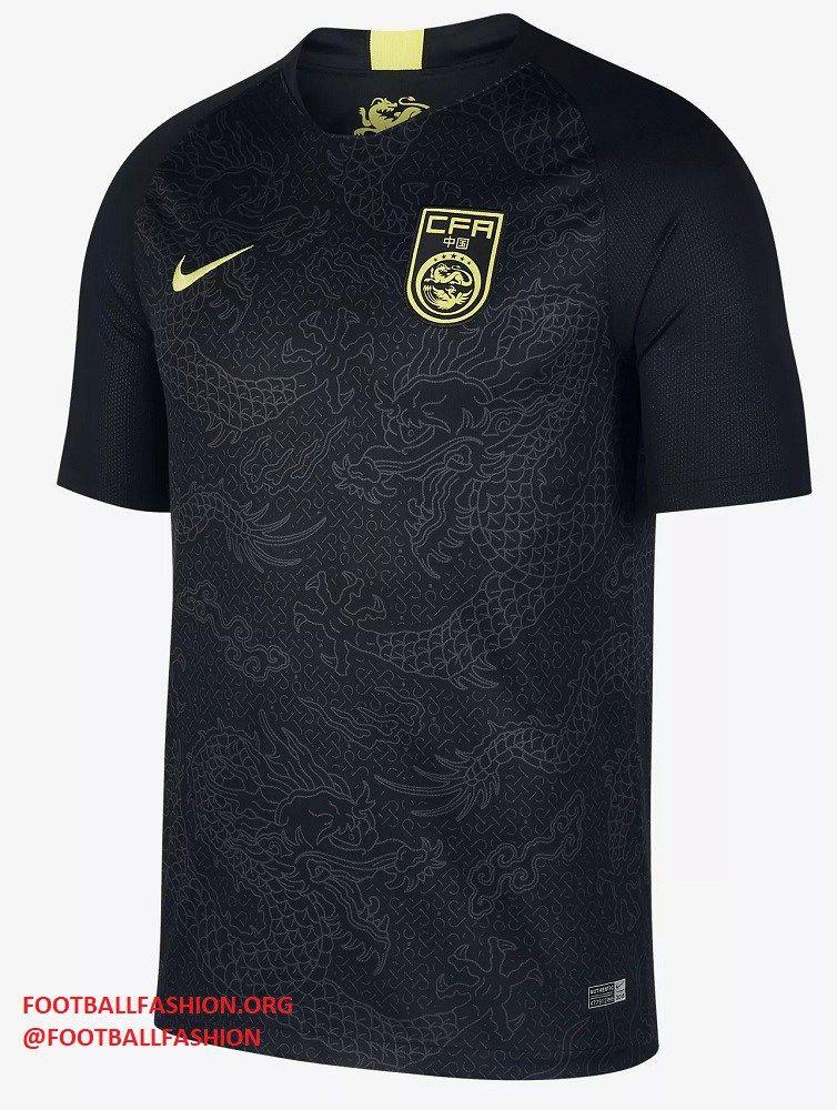 c110090eebca9 China 2018 2019 Black Nike Away Football Kit