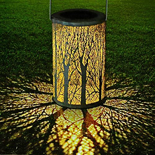 Yokunat Led Lanterne Solaireetanche Ip44 De La Silhouette Blanc Lanterne Solaire Lanternes Suspendues Lanterne Decoration