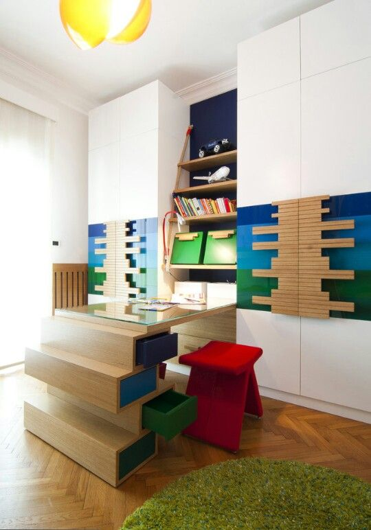 Creative closet and desk