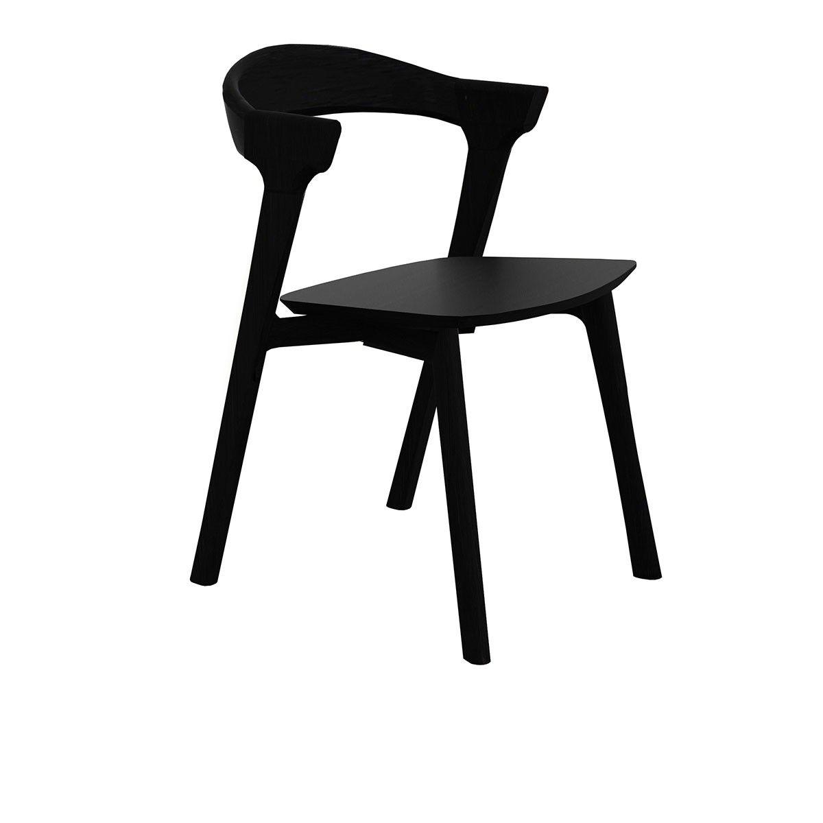 Chaise Bok Noir Concue En Bois De Chene La Chaise Bok Mise Sur Une Silhouette Contemporaine Qui Chaise Salle A Manger Chaise Design Bois De Chene