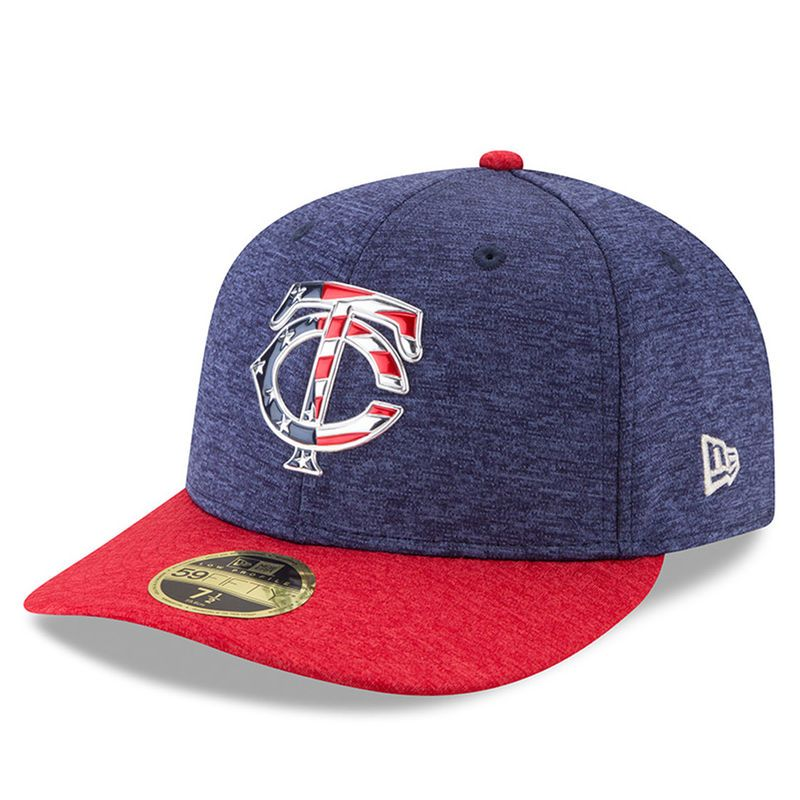 pretty nice e1c99 a1fc0 Minnesota Twins New Era 2017 Stars and Stripes Low Profile 59FIFTY Fitted  Hat - Heathered Navy Heathered Red