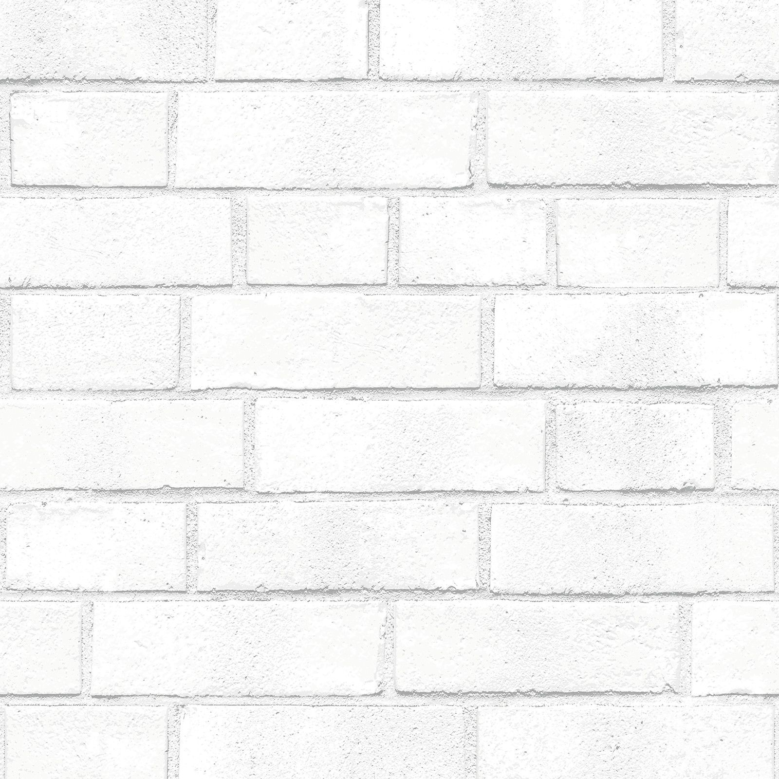 Sample Brick White Textured Self Adhesive Wallpaper design