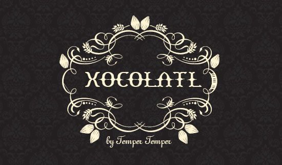 Xocolatl Chocolates - Beautiful logo and label design for Christchurch Chocolate Company. Business card design, Packaging, Stickers etc