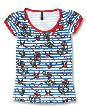 Liquor Brand ANCHORS-BIRDS Women T-Shirts