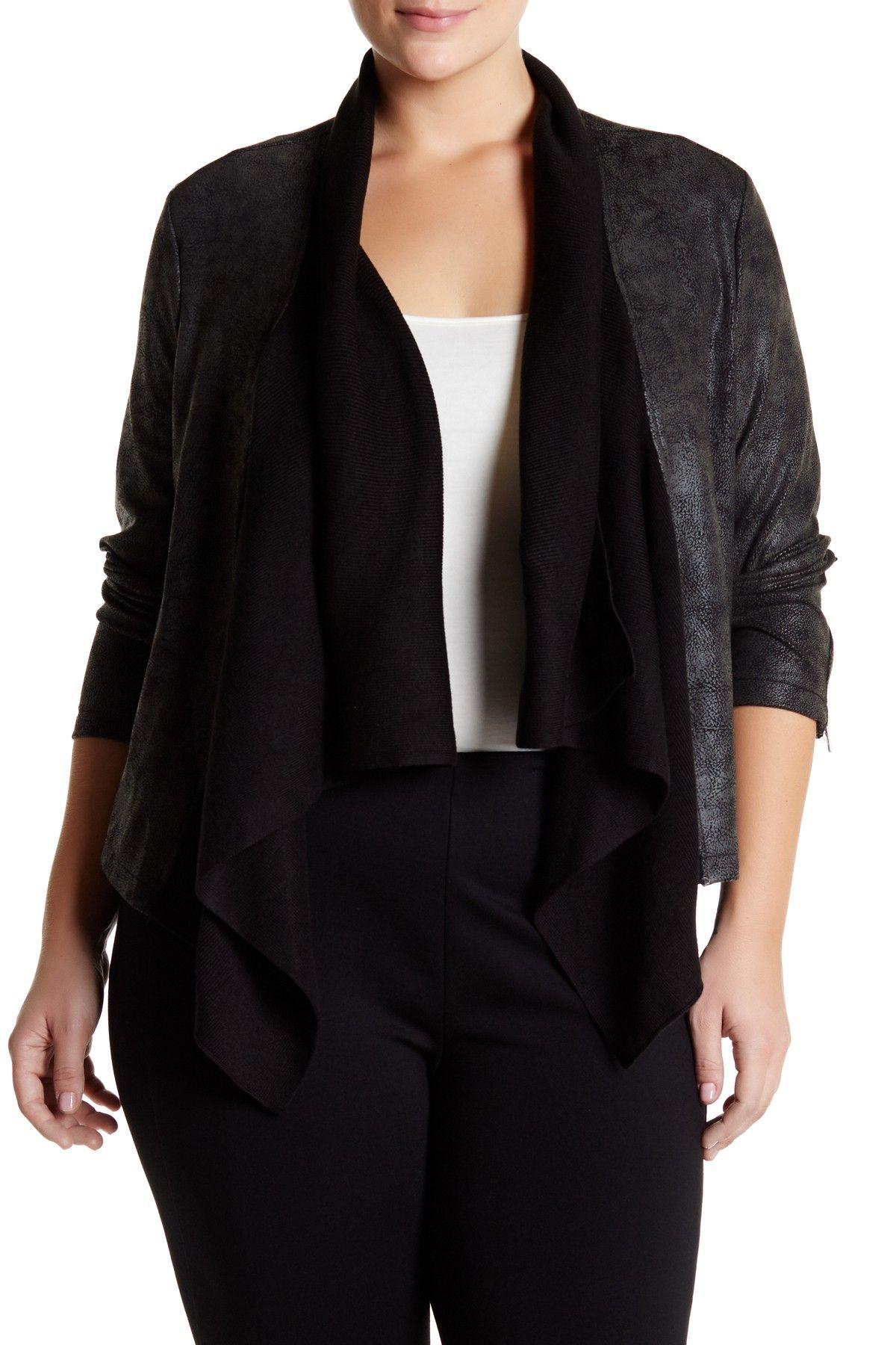 Cameron Drape Collar Jacket (Plus Size)