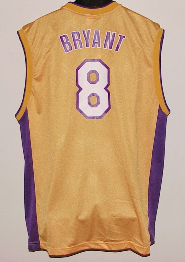 0eb463acf92d eBay  Sponsored Vintage KOBE BRYANT  8 LAKERS REEBOK AUTHENTIC JERSEY NWT  NEW Old Stock w tag XL