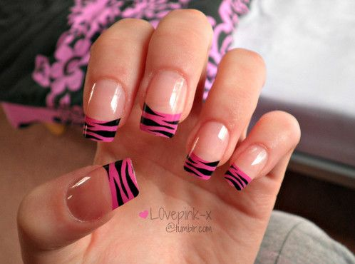 Pink and black zebra print nails manicure pinterest zebra pink and black zebra print nails prinsesfo Image collections