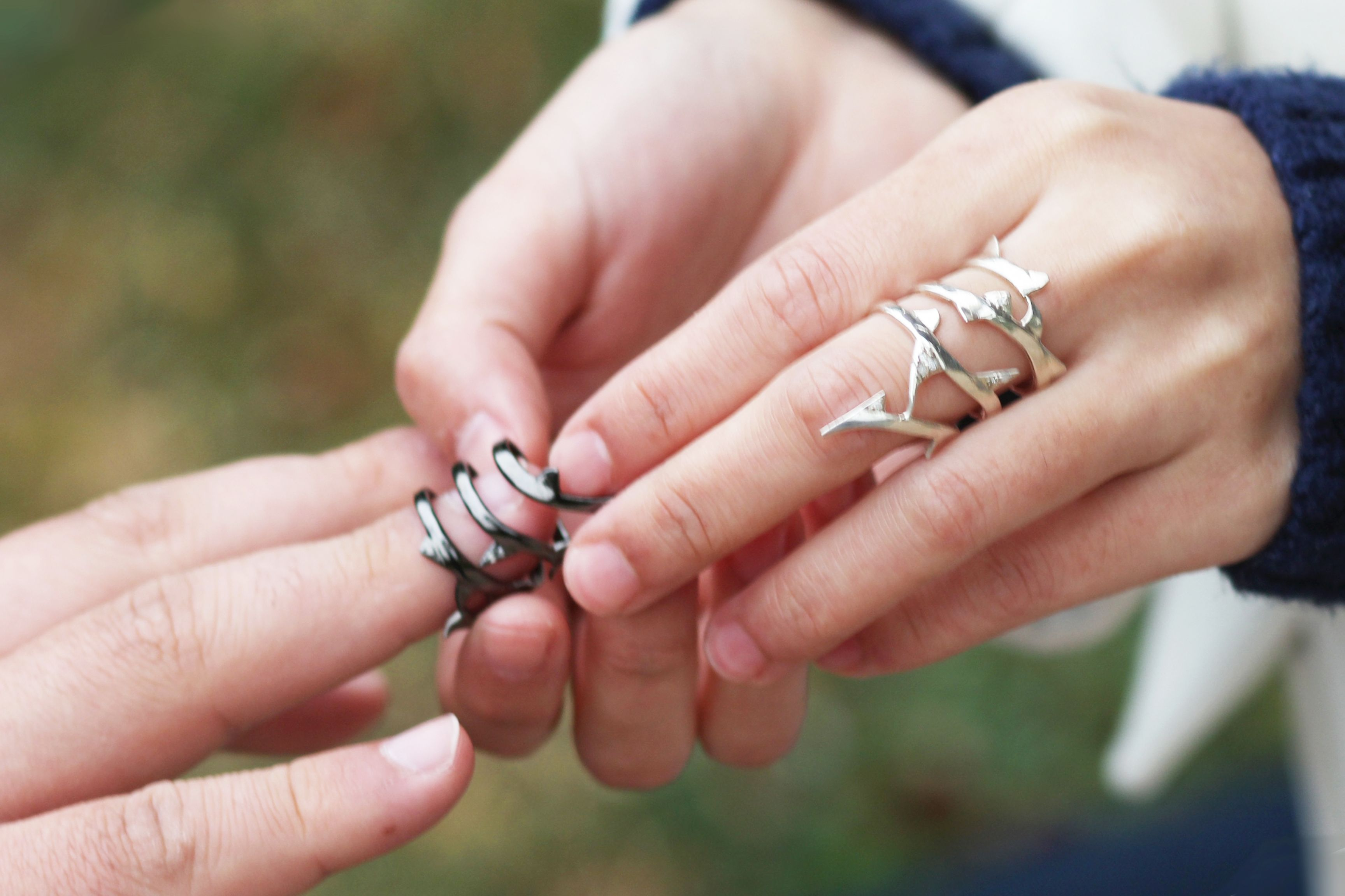 Very different couple\'s ring | Model Shoot | Pinterest | Alternative ...
