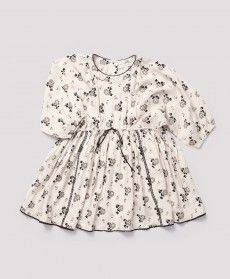 Ashdown Dress, Cream Polka Flower