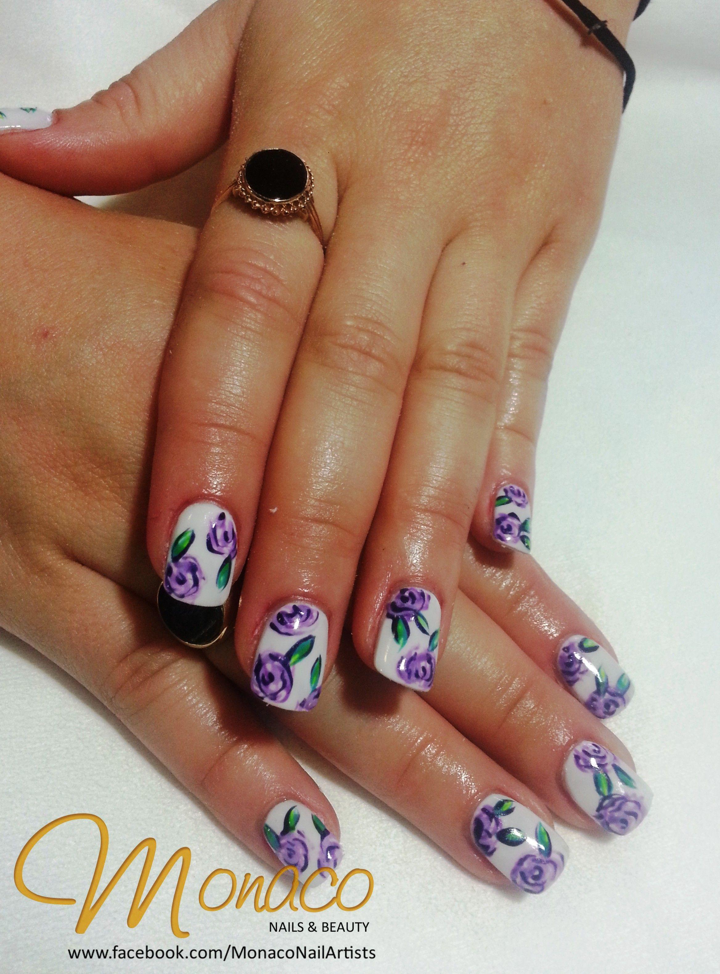 Sanidi's Beautiful ColourGloss Floral Nails! So Pretty