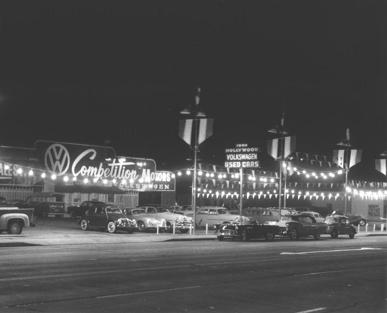 Competition Motors Volkswagen And Porsche Dealer Hollywood Mid 1950s Bygone Los Angeles Deux