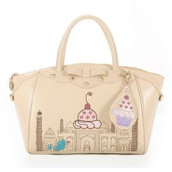 $31.14 Sweet Women's Handbag With Floral Print and Rivets Design