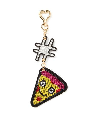 $14.99 marked down from $28!! Yellow Pizza Dangle #zulilyfinds #pizza #dangle