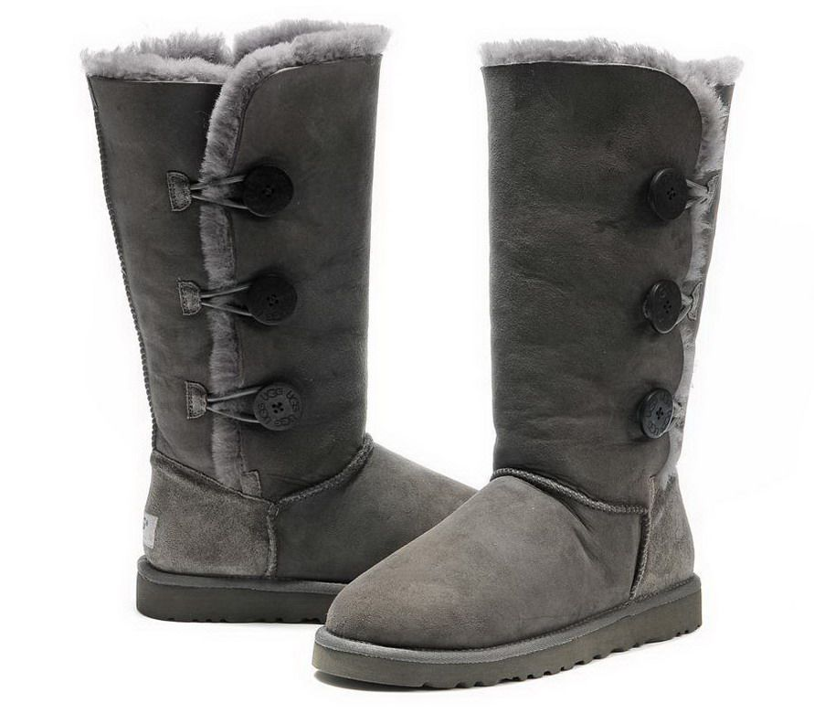 7a73e2e70b1 Ugg Bailey Button Triplet Tall Boots 1873 Grey UK | Cool ideas or ...