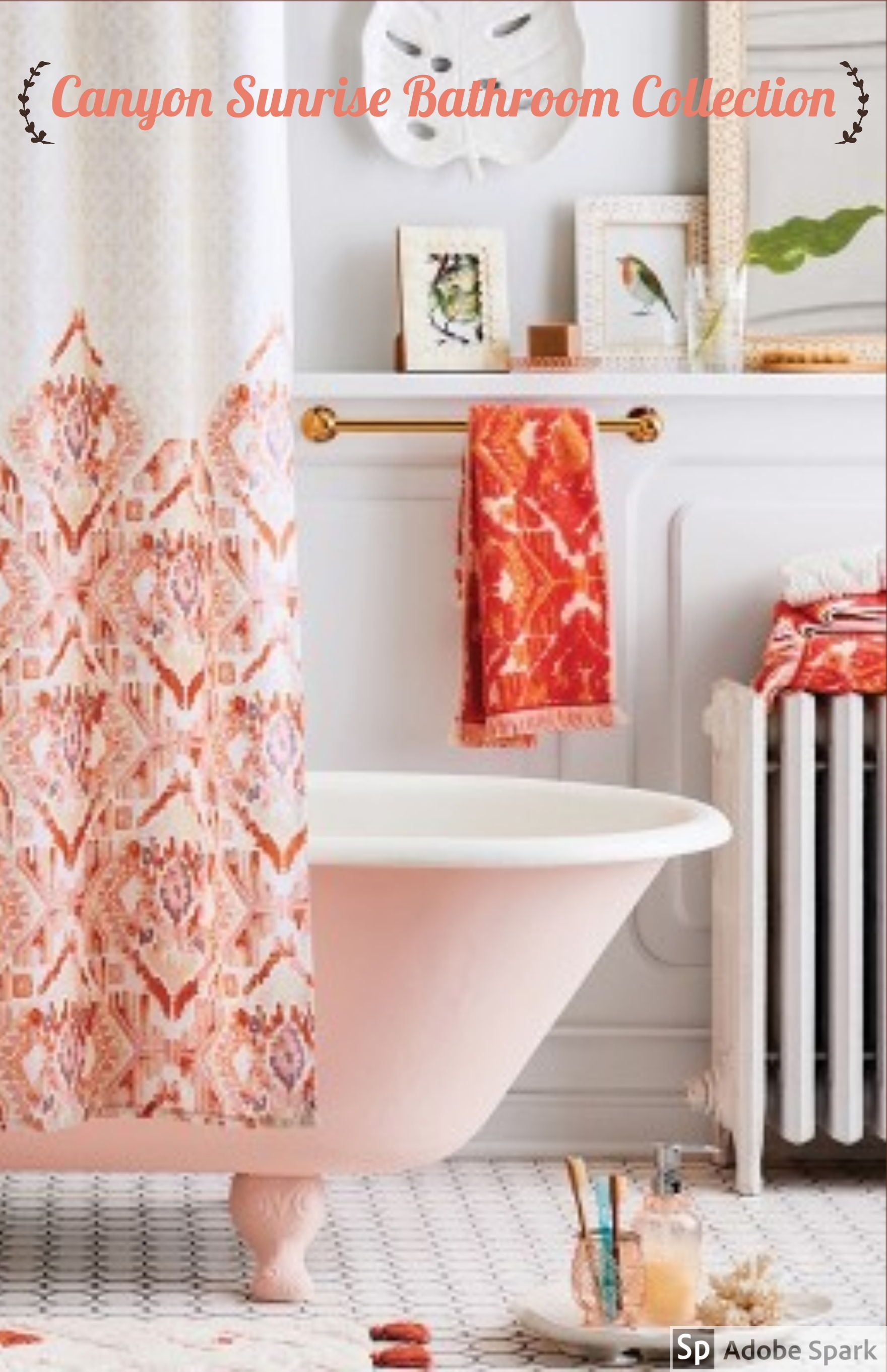 This New Ikat Shower Curtain An Instant Sunset Inspired Update