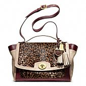 LEGACY COLORBLOCK OCELOT HAIRCALF FLAP CARRYALL
