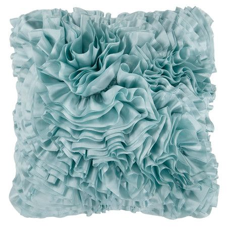 Pillow with a textured ruffles design.    Product: PillowConstruction Material: Polyester coverColo...