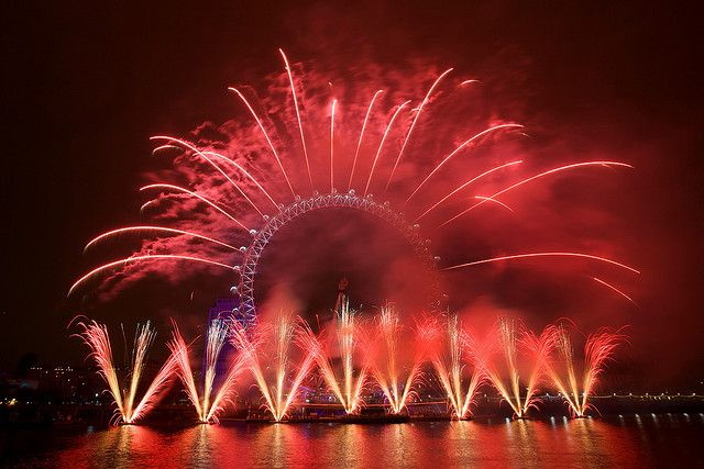 New Year's Eve London Fireworks, via Flickr.