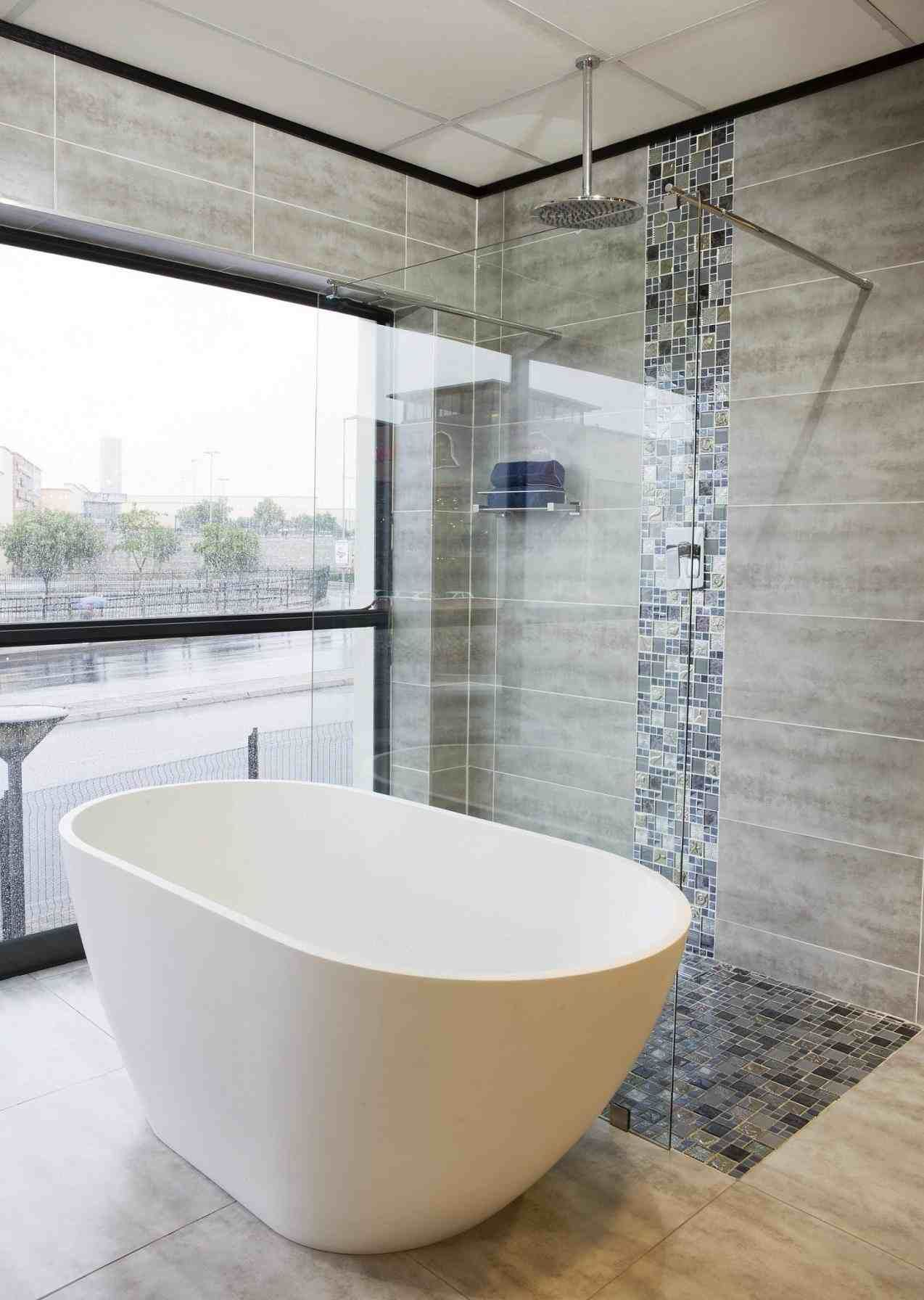 This cast iron tub shower - finishing a tub with bathworks ...