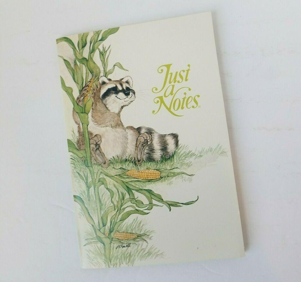 Current JustaNotes Linda Powell Raccoon vintage Folder