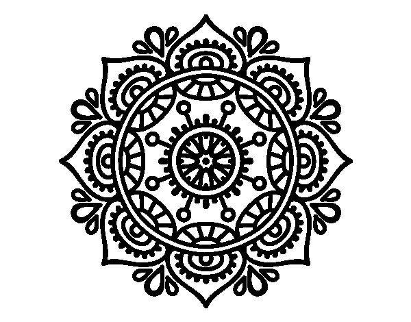 Mandala Para Relajarse Colorear Imagenes De Mandalas Mandalas Para Colorear Mandalas Faciles