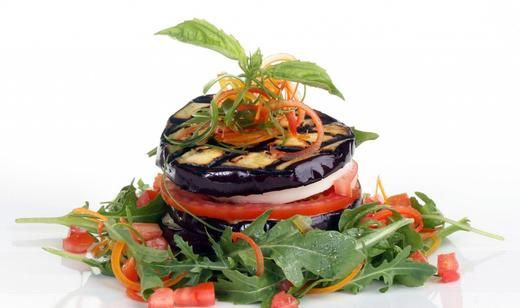 Grilled Eggplant and Fresh Mozzarella Stacks @Matty Chuah Food Channel .com @Delita Florida Agriculture #recipe #eggplant #mozzarella