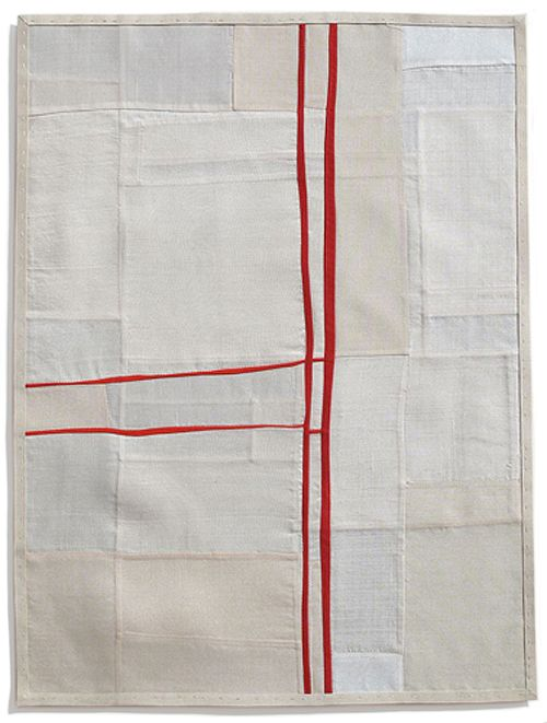 Yielding Resistance III (pieced vintage silk), by Debra M. Smith, 2009.