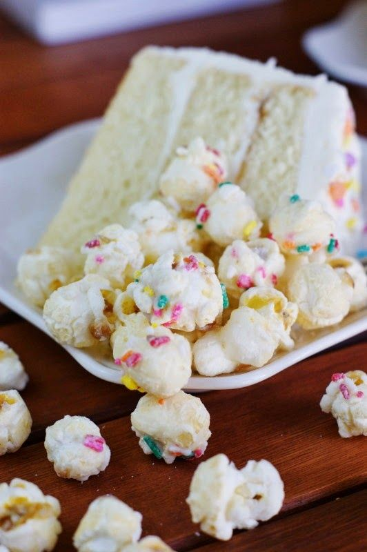 The Kitchen is My Playground: White Chocolate Birthday {or Easter} Cake & Tastebuds Popcorn GIVE-AWAY!
