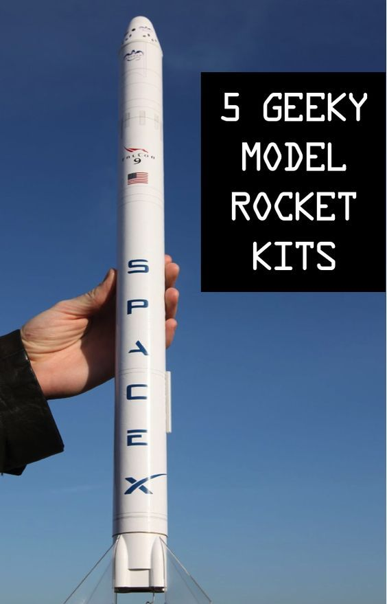 Five Geeky Model Rocket Kits | Get Your Geek on | Spacex falcon 9