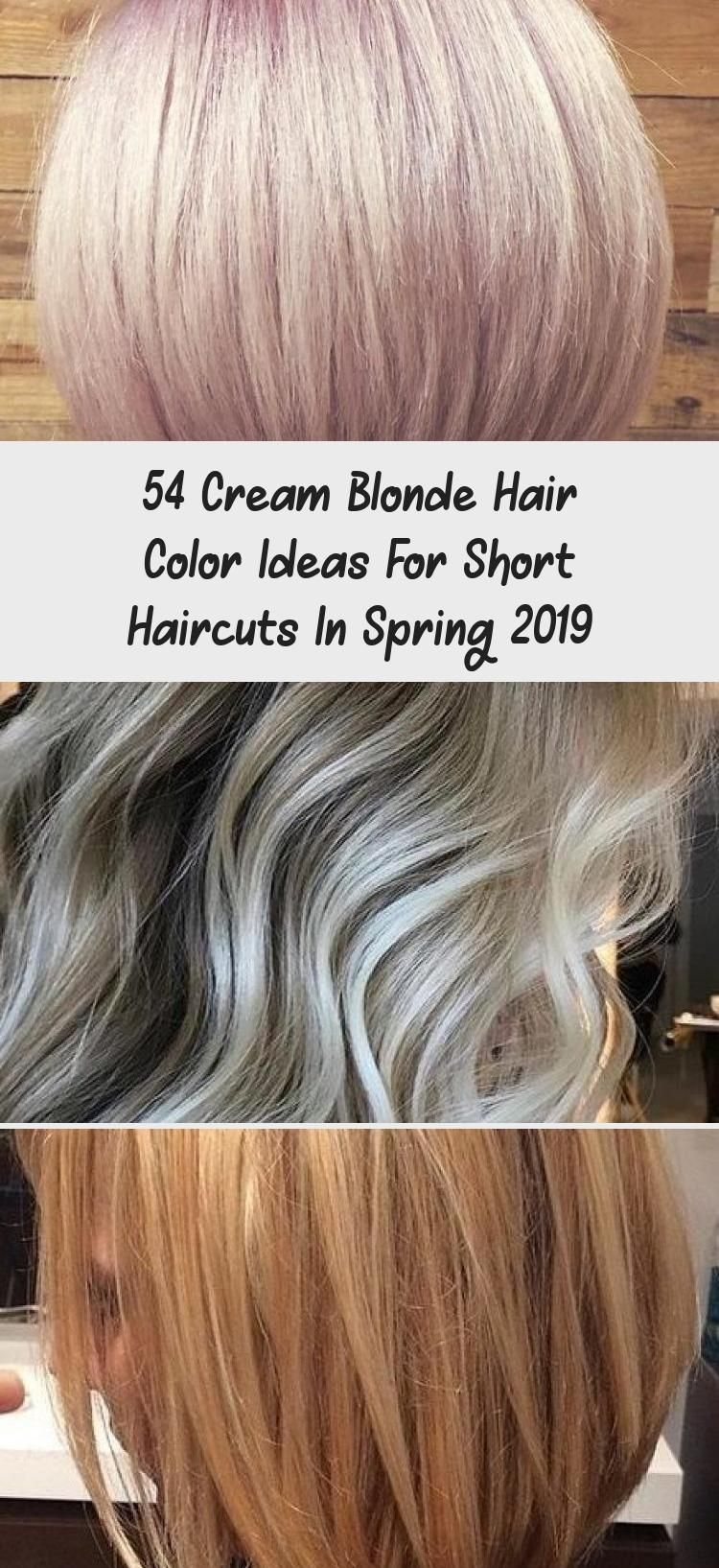 54 Cream Blonde Hair Color Ideas For Short Haircuts In Spring 2019 #darkblondehair