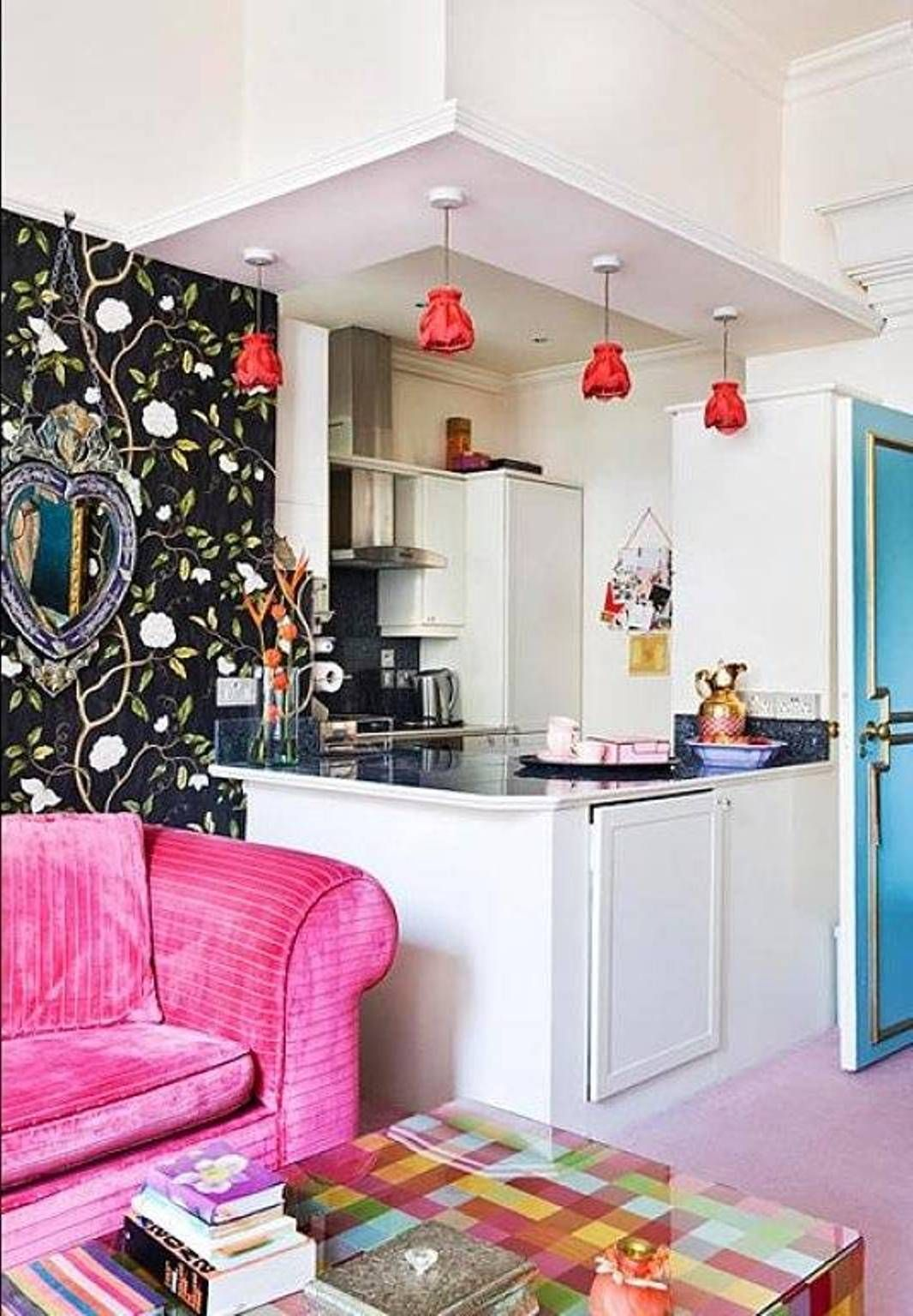 very small apartment kitchen design close with living