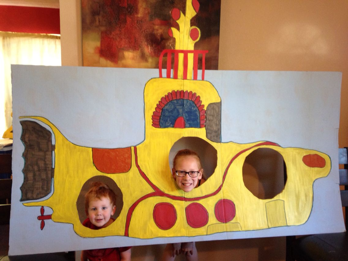 Gmail themes beatles - Beatles Theme 2nd Birthday Yellow Submarine Photo Booth Made Out Of Cardboard