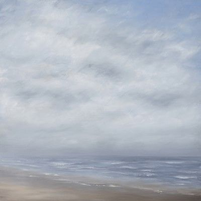 Tricia Strickfaden, Coastal Fog 36x36 #williamssonoma Original oil on canvas #curatedoriginalart
