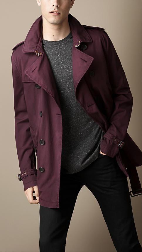 Burberry Brit Short Cotton Twill Trench Coat  48e36d72c23