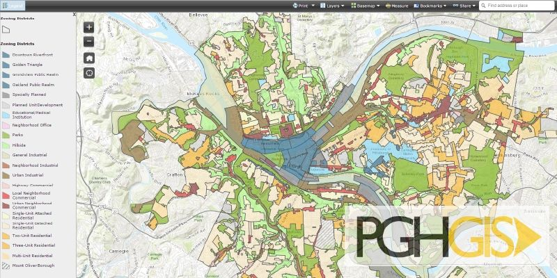 City Of Pittsburgh Map Map Of Pittsburgh Pa welcome to the city of pittsburgh department