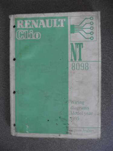 Renault Clio Wiring Diagrams Manual 1995 Nt8098 7711176031 Listing In The Renault Car Manuals