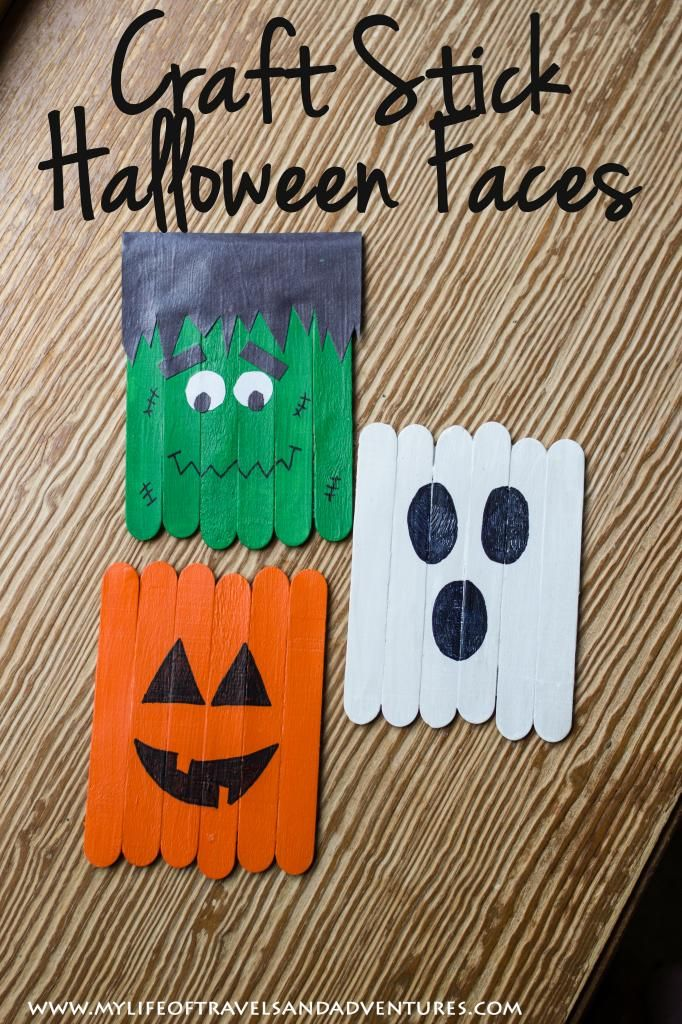 Diy halloween door decorations with popsicle sticks