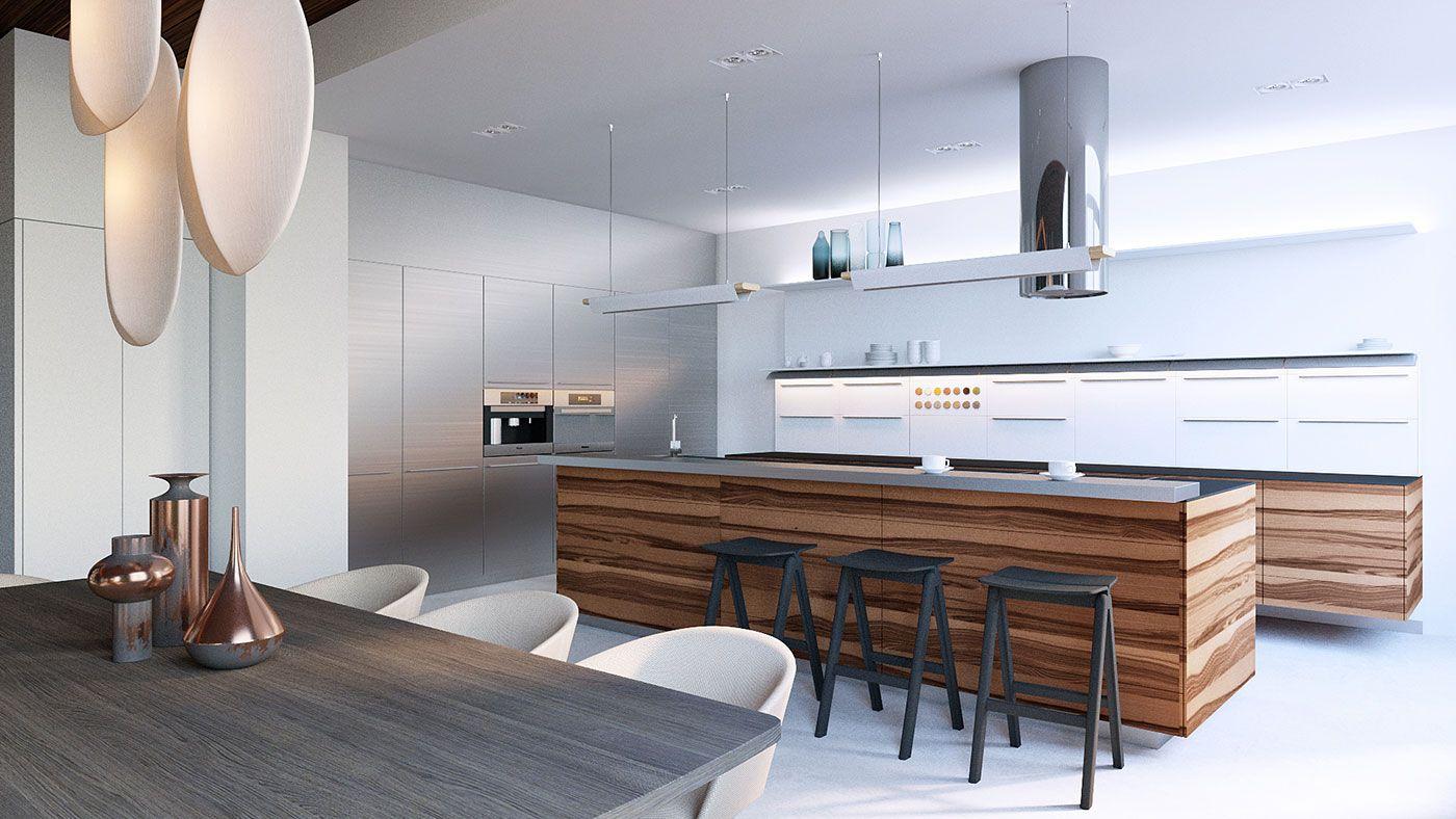 студио кухни с фото хай тек недолгих