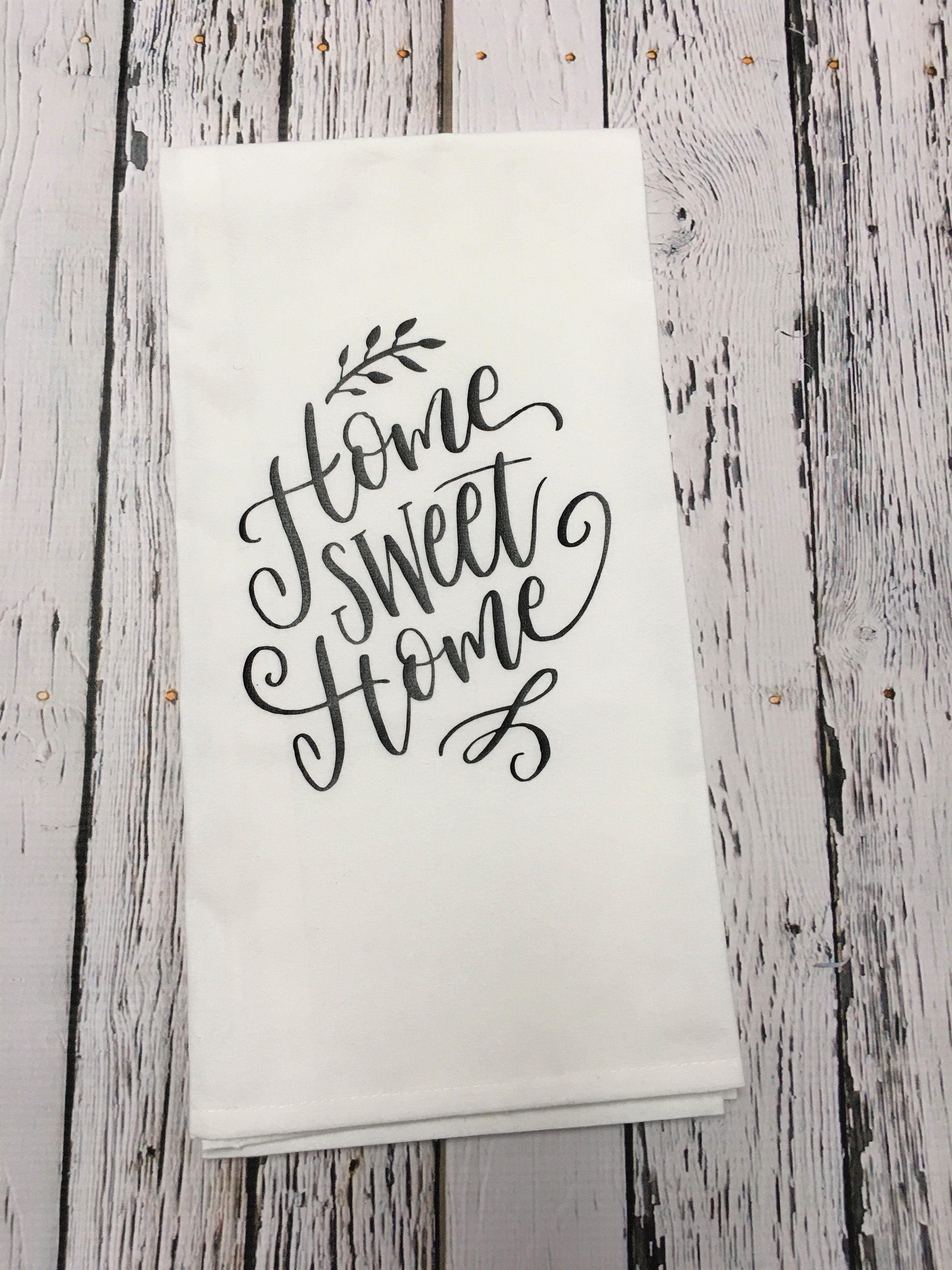 Home Sweet Home kitchen-bar Towel | Diy kitchen ...
