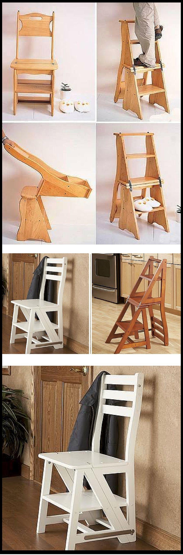 Best ideas woodworking diy plans review woodwork for Silla escalera plegable planos