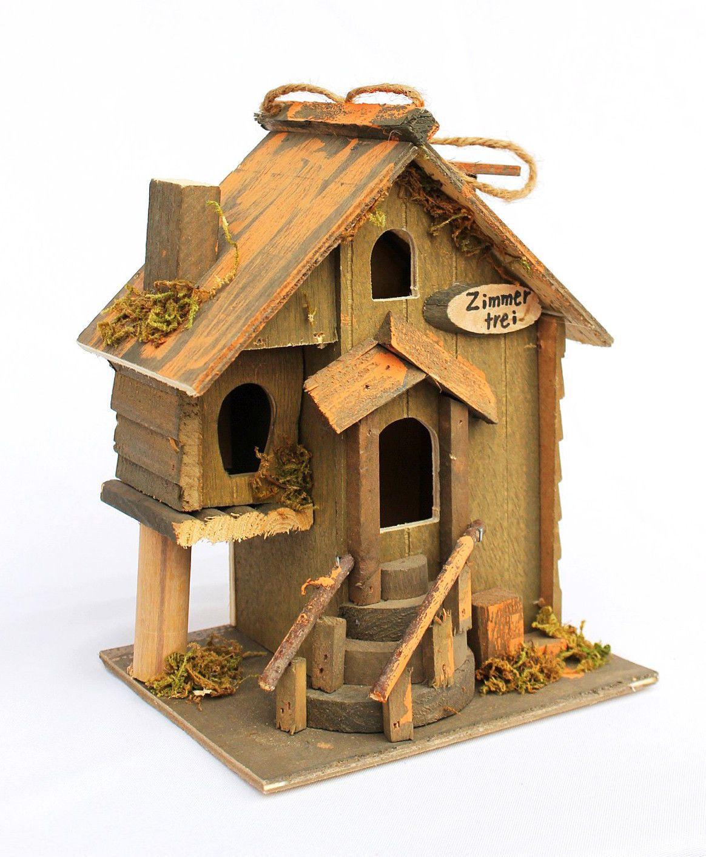 Casita para p jaros habitaci n libre 83211 casa de p jaros pajarera de madera ebay casa - Casita para pajaros ...