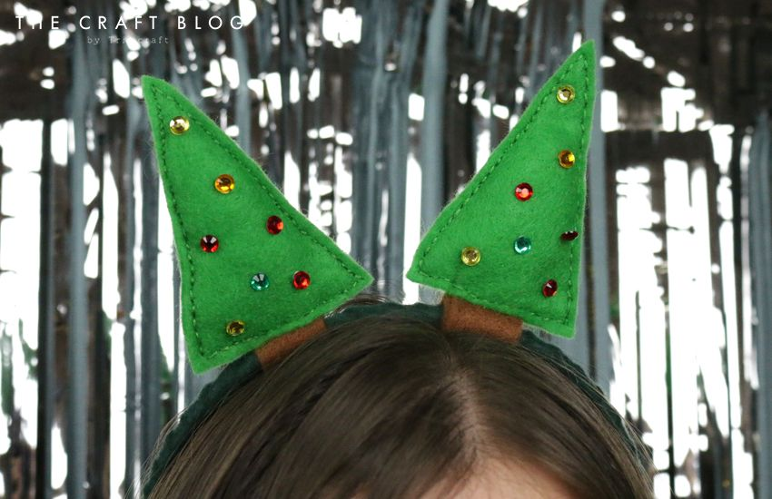 Diy Festive Felt Headband Tutorial Felt Headband Tutorial Felt Headband Diy Felt Crafts Christmas