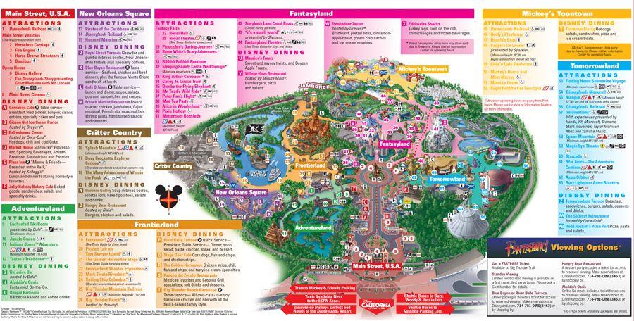 Disneyland Usa Map.The Hub Disneyland Map Main Street Usa A Walk In The Park
