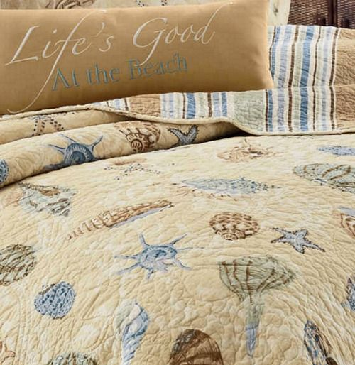 Coastal Sea Life Cotton Quilts For Beach Dreamers In 2019