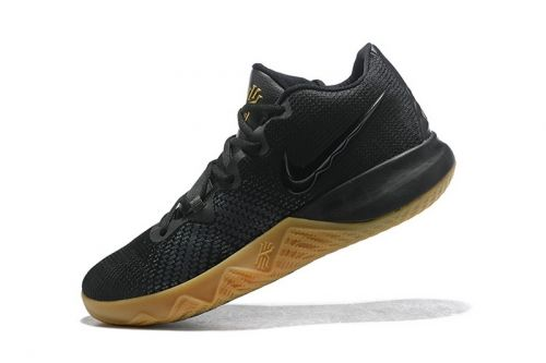 new styles 5a6d4 4022d Fashion Mens Nike Kyrie Flytrap Black Gum-Metallic Gold Free Shipping For  Sale - ishoesdesign